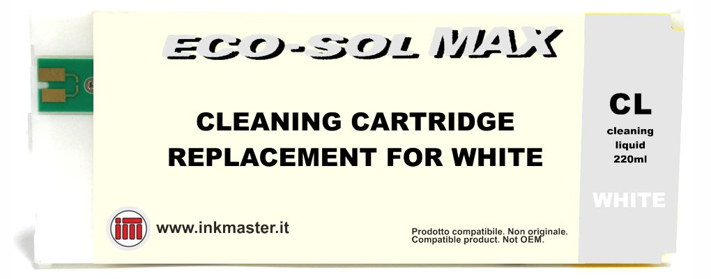 Cartuccia compatibile ROLAND ECO-SOL MAX 2 CLEANING WHITE per ROLAND ECOSOLVENT
