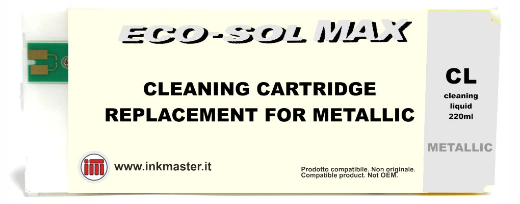 Cartuccia compatibile ROLAND ECO-SOL MAX 2 CLEANING METAL per ROLAND ECOSOLVENT