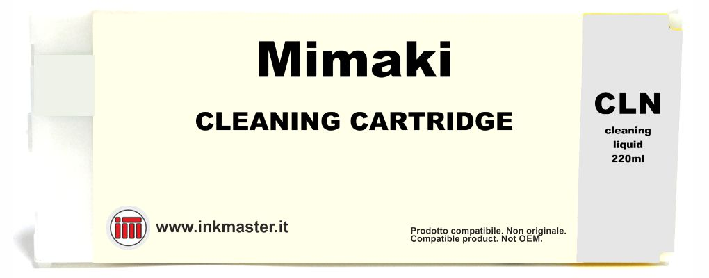 Cartuccia compatibile MIMAKI SS2 SS21 ES3 HS BS3 BS4 CLEANING per MIMAKI SOLVENT ECOSOLVENT