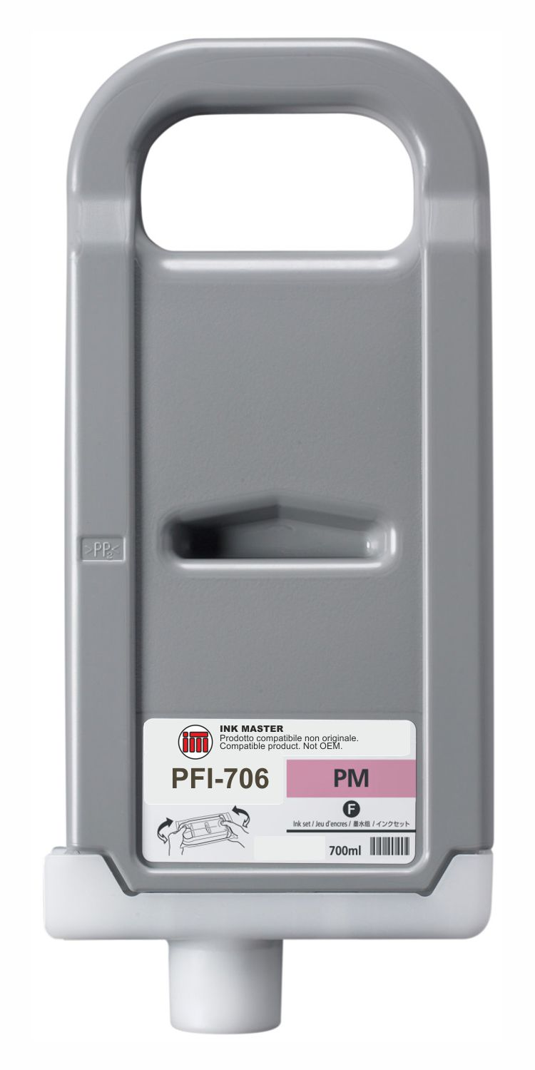 Cartuccia compatibile CANON PFI-706 PHOTO MAGENTA  per Canon IPF 8300 8300S 8400 8400S 8400SE 9400