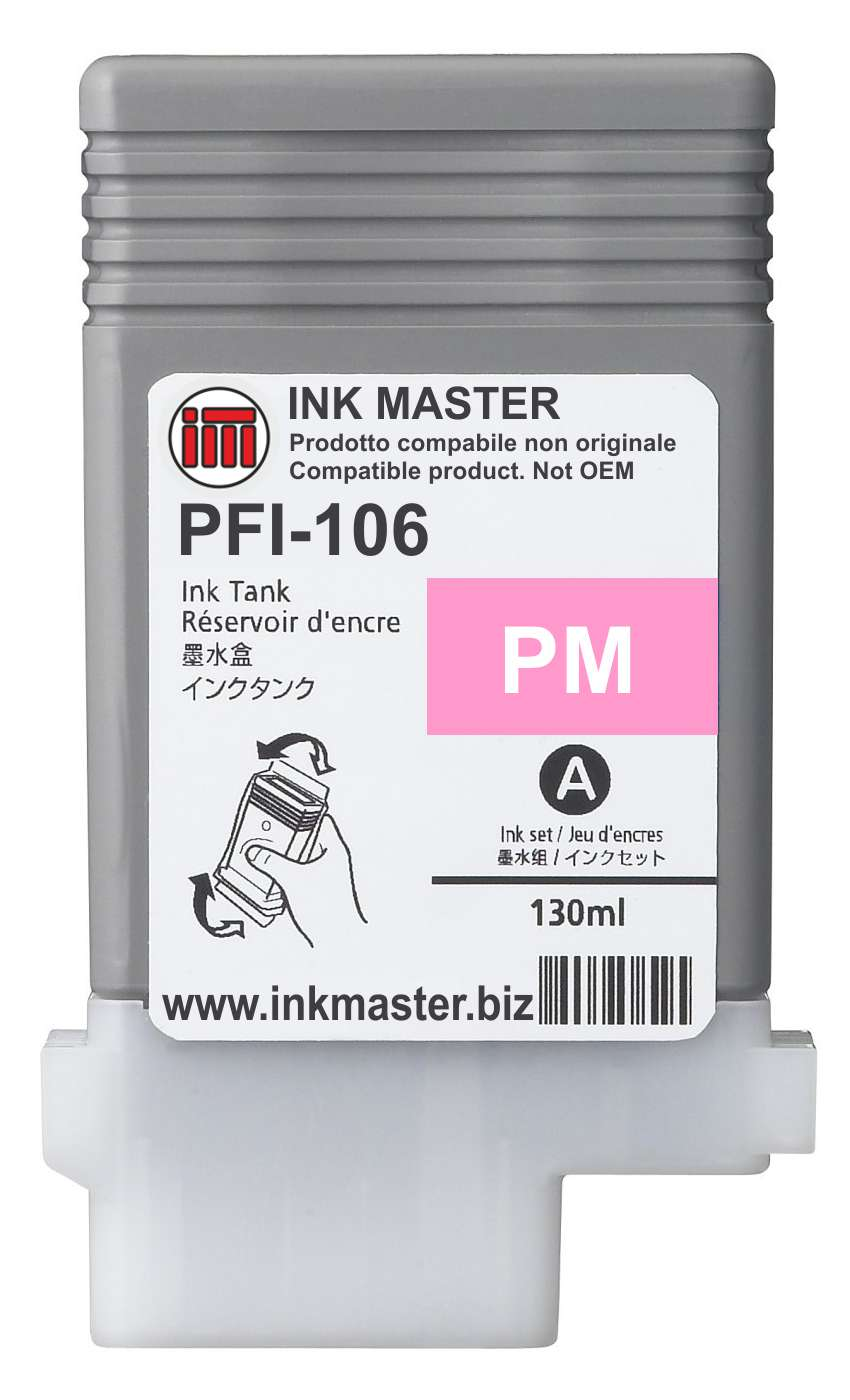 Cartuccia compatibile CANON PFI-106 PHOTO MAGENTA  per Canon IPF 6300 6300S 6350 6400 6400S 6450