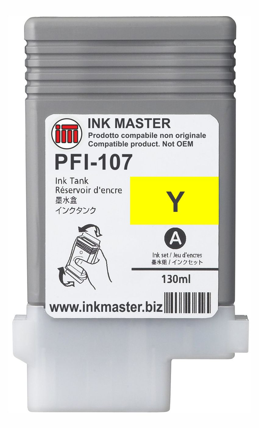 Cartuccia compatibile CANON PFI-107 YELLOW  per Canon IPF 670 680 685 770 780 785