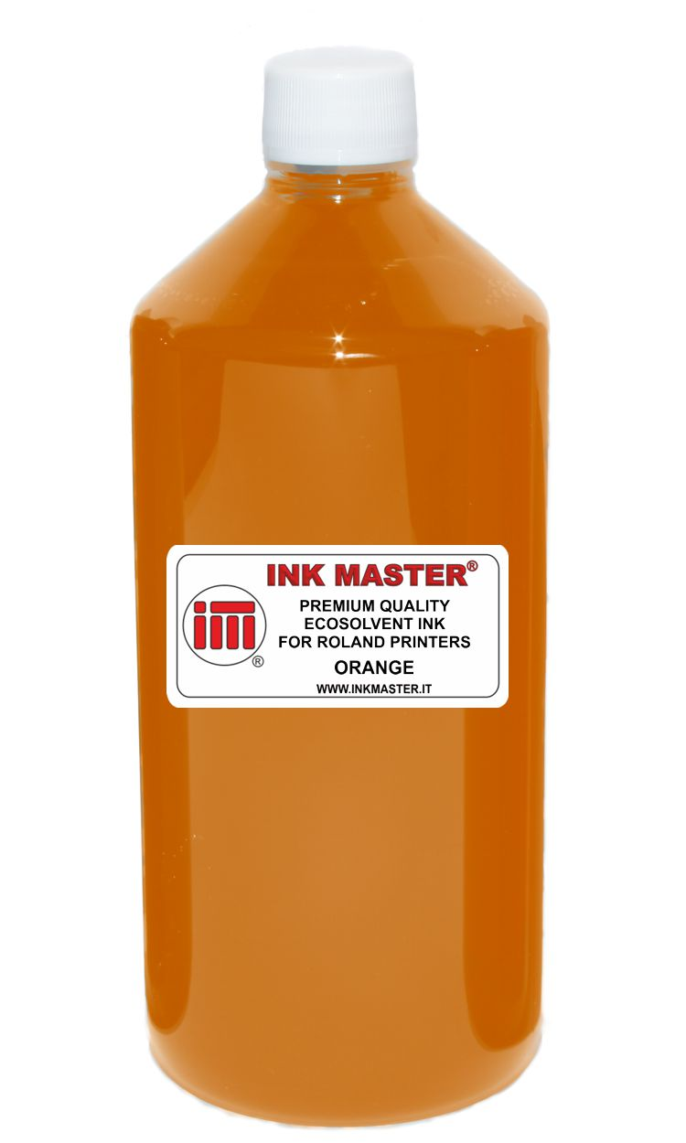 Bottiglia inchiostro ecosolvent compatibile ROLAND ECO-SOL MAX 1 2 3 ORANGE per ROLAND PRINTERS WITH DX5 DX6 DX7 TFP PRINTHEADS