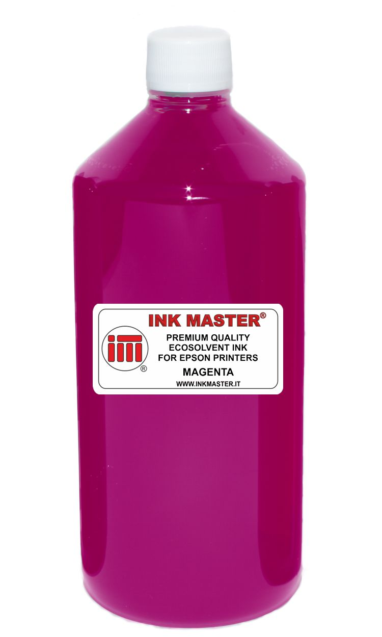 Bottiglia inchiostro ecosolvent compatibile EPSON EPSON ECOSOLVENT PRINTERS MAGENTA per EPSON AND MUTOH PRINTERS WITH DX5 DX6 DX7 TFP PRINTHEADS