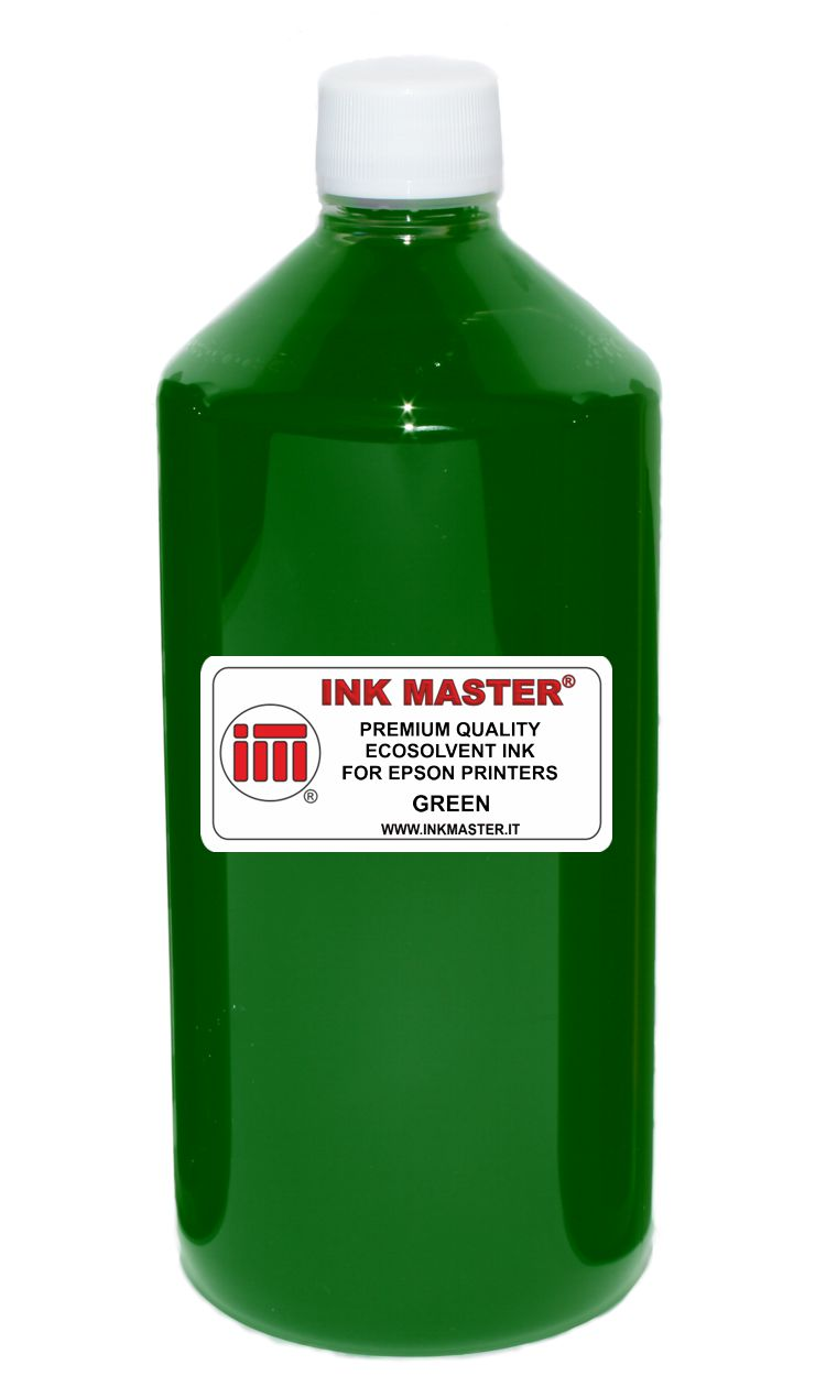 Bottiglia inchiostro ecosolvent compatibile EPSON EPSON ECOSOLVENT PRINTERS GREEN per EPSON AND MUTOH PRINTERS WITH DX5 DX6 DX7 TFP PRINTHEADS